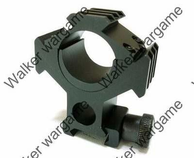 25mm/30mm QD Scope Mount Ring w/20mm Tri-Rail