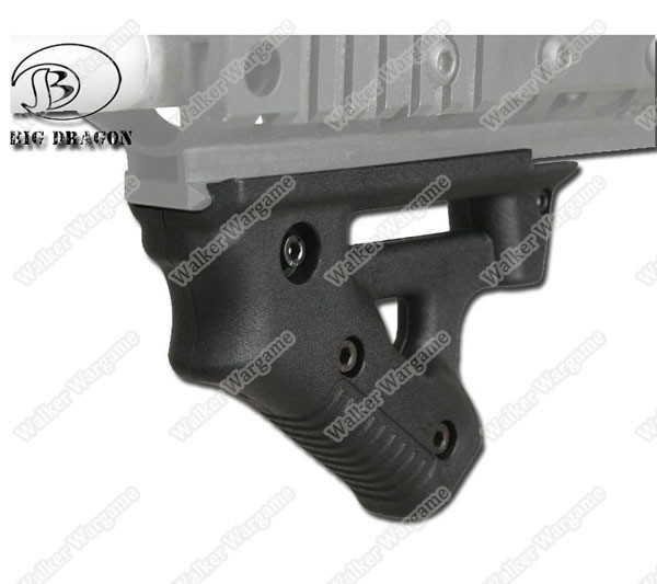 BD Tactical Strike ForeGrip Angled Foregrip Fit All Picatinni Rail Rifle - Black