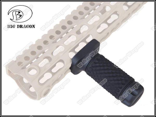 Tactical KeyMod System Golfball Pattern ForeGrip Forward Vertical Grip - Black