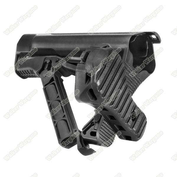 G&G GOS V3 M4 AR15 M16 Tactcial Butt Crane Stock - Black (Hold Crane Stock Battery)