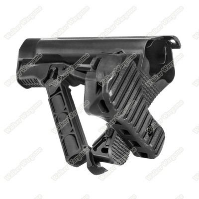 G&G GOS V3 M4 AR15 M16 Tactcial Butt Crane Stock - Black (Hold Crane Stock Battery)