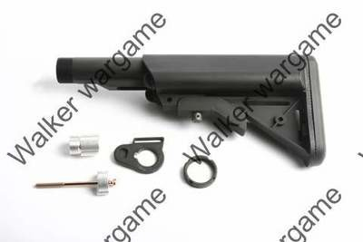 G&G 6 Poistion Crane Retractable Stock For M4 Series Airsoft Gun With Pipe - BL