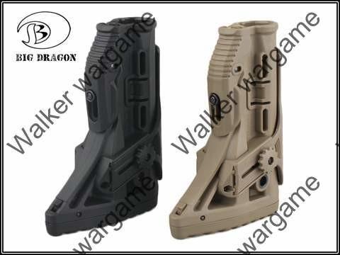 Tactical FAB M4/AR15 Shock Absorbing Butt Stock With Picatinny Cheek - Tan Black
