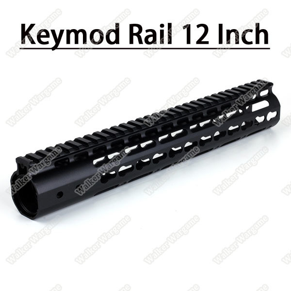 Tactical 12 Inch Free Float Aluminum KeyMod RIS Metal Handguard with Top Rail