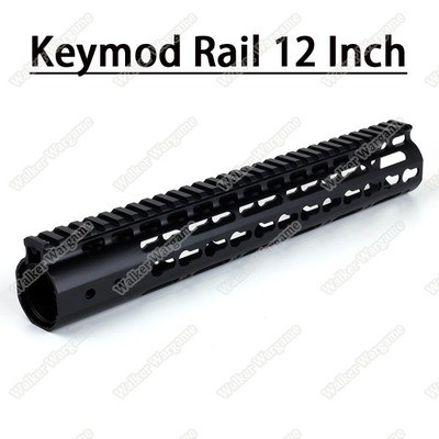 Tactical 12 Inch Free Float Aluminum KeyMod RIS Metal Handguard with Top Rail