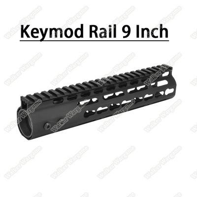 Tactical 9 Inch Free Float Aluminum KeyMod RIS Metal Handguard with Top Rail