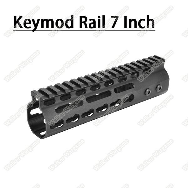 Tactical 7 Inch Free Float Aluminum KeyMod RIS Metal Handguard with Top Rail
