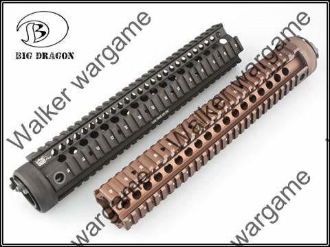 12inch M16 RIS Picatinny Rail Handguard - Black & Tan