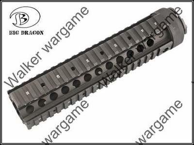 actical 9 inch M4A1 RAS Metal RIS Free Float Picatinny Rail Handguard - Black & Tan