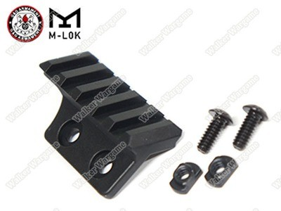 G&G M-LOK MLOK 45 Degree Picatinny Rail Adapter - Black