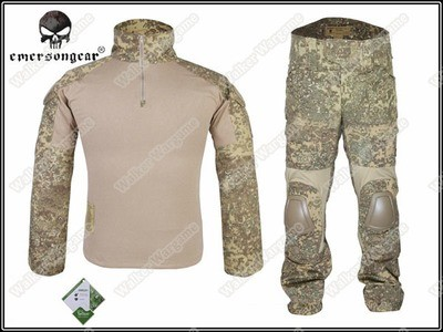 Combat Set Shirt & Pants Build in Elbow & Knee Pads - Special Force Badlands Camo BLD
