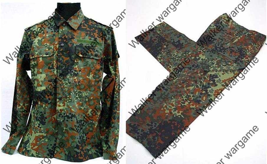 BDU Battle Dress Uniform Full Set - German Army Woodland Flecktarn Camo
