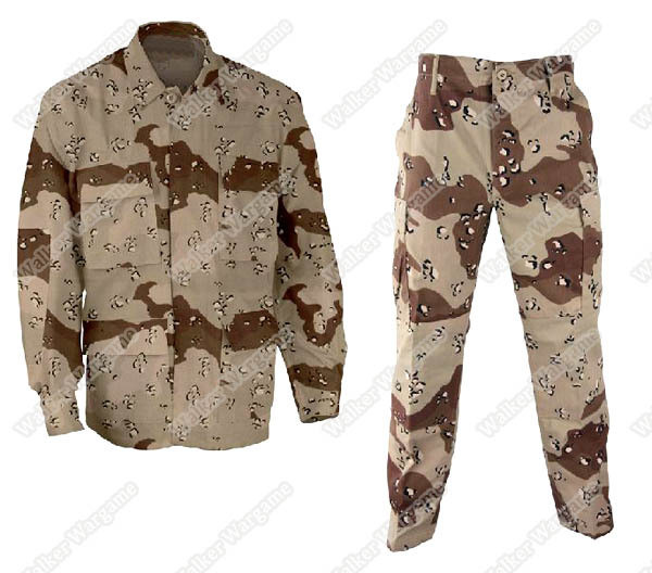 BDU Battle Dress Uniform Full Set - US Army 6 Color Desert Camo(First Desert Storm)