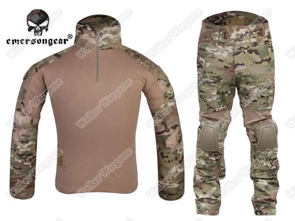 Combat Set Shirt & Pants Build in Elbow & Knee Pads - US Speical Force Multi Camo
