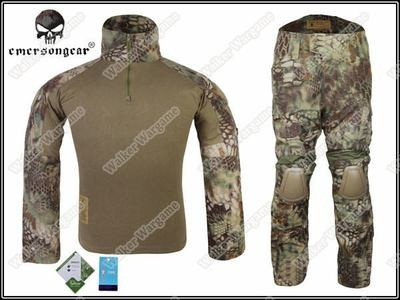 Combat Set Shirt & Pants Build in Elbow & Knee Pads - Special Force Mandrake Camo MR
