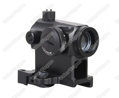 Emerson T1 Micro Reflex Red & Green Dot Sight with QD Riser - Black