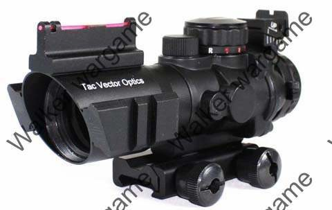 TAR 4x32mm Red/Green/Blue Cross-Hair Scope with Dual Rail - Black