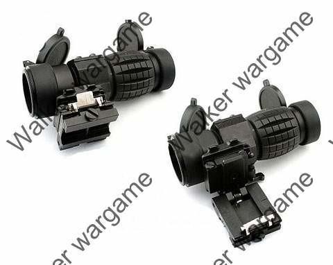 3X-FTS Magnifier Scope w Flip To Side Mount - Bl