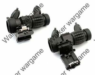 3X-FTS Magnifier Scope w Flip To Side Mount - Bl
