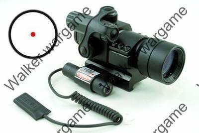 A Style 1x30mm Reflex Red & Green Dot Scope with Red laser & Pressure Pad