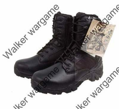 Delta Side ZIP Combat Assault Army Boots - Black