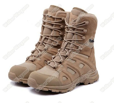 UniteWin Tactical Non-slip Combat Boots With Side Zip - Desert Tan