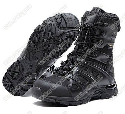 UniteWin Tactical Non-slip Combat Boots With Side Zip - SWAT Black