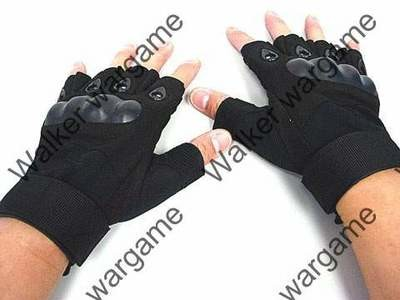 O Style Half Finger Assault Gloves  - BL