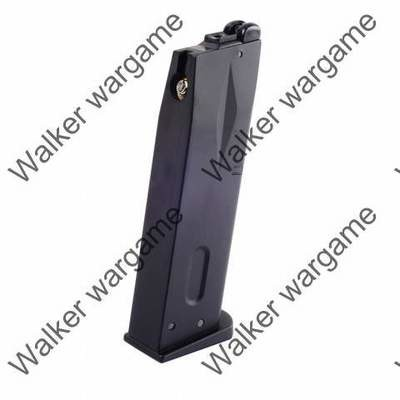WE 24rd Green Gas Pistol Magazine for Beretta M9 GBB Black