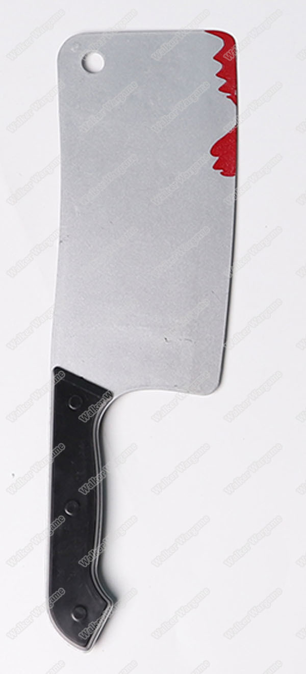 Rubber Training Knife - Halloween Butcher Cleaver With Blood