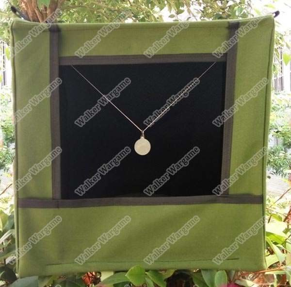 Military Sailcloth FabricTarget Box - Stainless Steel Slingshot , Double Layer Reinforcement Silencer Shooting Target