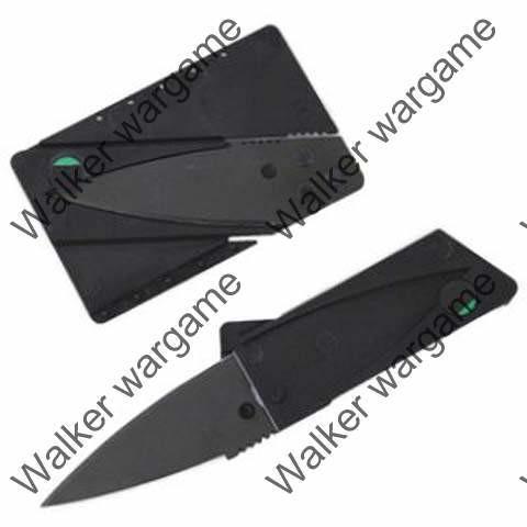 Tactical Cardsharp Folding Credit Card Knife - Black