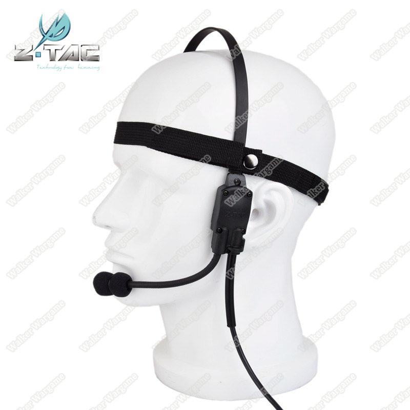 Z-Tac Military Tactical Headset Signal bone conduction Speaker MH180 Earphone