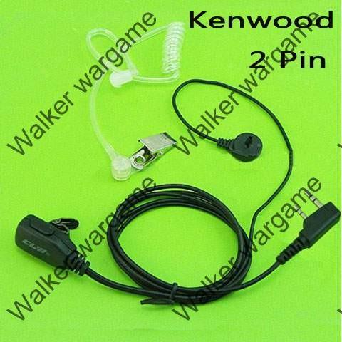 FBI Style Covert tube Earpiece - Kenwood 2 Pin