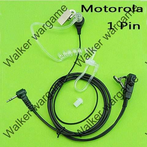 FBI Style Covert tube Earpiece - Motorola 1 Pin