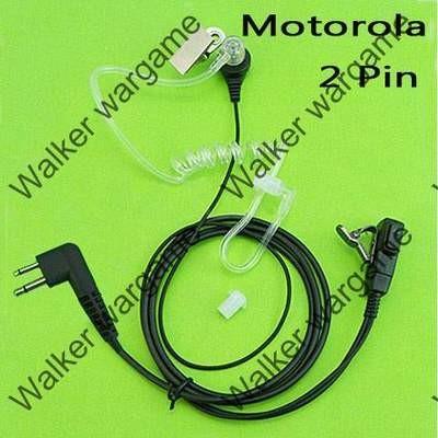 FBI Style Covert tube Earpiece - Motorola 2 Pin