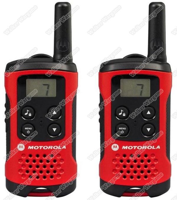 Motorola Talker TLKR T40 2 Way Walkie Talkie Radio 4KM Range - Black/Red (Pack of 2)