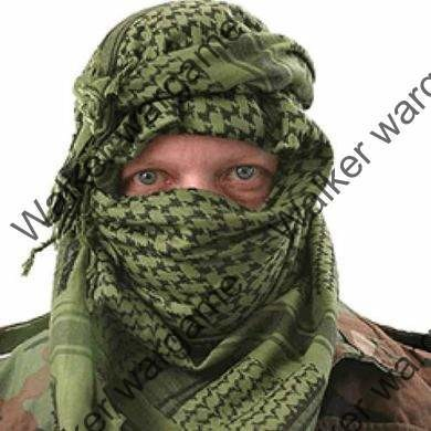 Mil Spec 100% Cotton Tactical Shemagh OD Green / Black