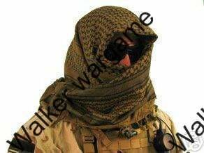 Tactical Shemagh - Coyote Tan/Black Light Version