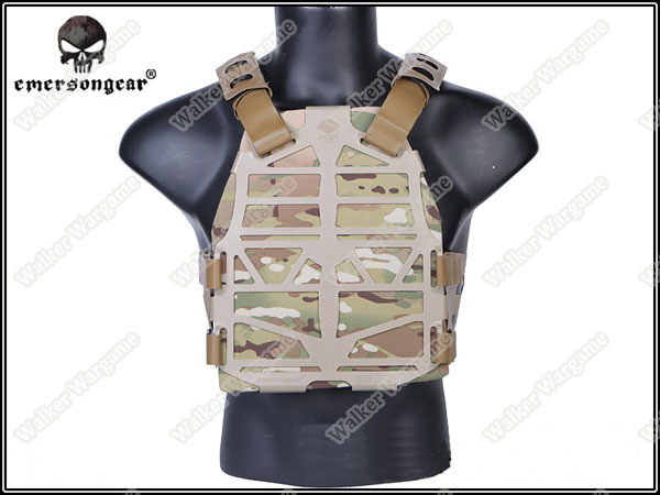 Emerson Frame Plate Carrier FAC Tactical Light Weight Body Armor Molle Vest - Tan