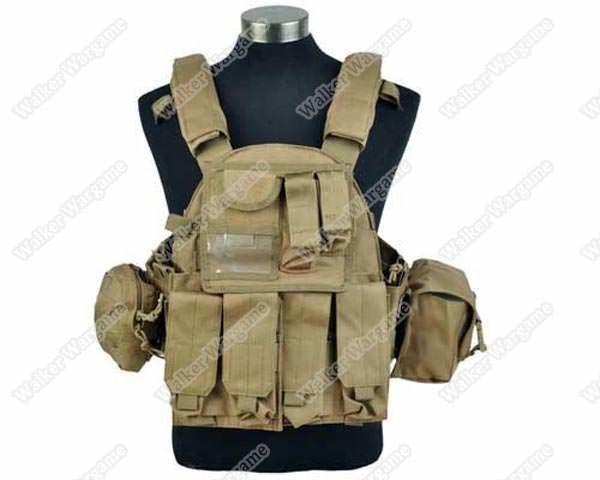 US Navy Seals 6094 VT089 Tactical Molle LBT Vest - Marine Tan