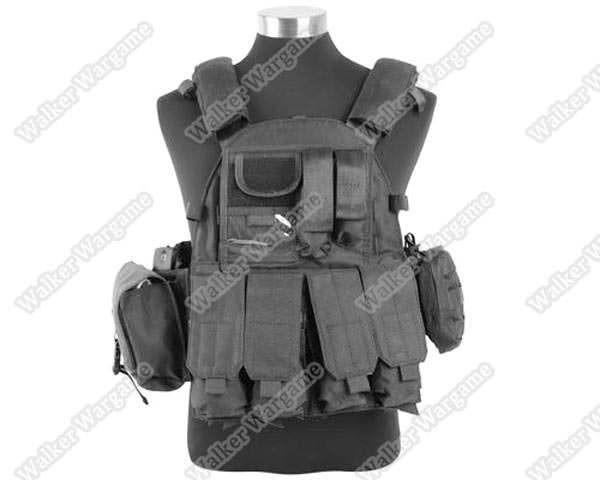 US Navy Seals 6094 VT089 Tactical Molle LBT Vest - SWAT Black