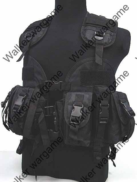 Tactical Navy Seal Combat Modular Assault Vest - SWAT Black