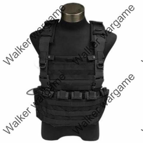FLYYE Lightweight WSH Chest Rig Molle Vest - SWAT Black