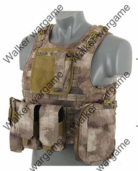 USMC FSBE Molle Combat Assault Plate Carrier Vest - Special Force A-Tacs
