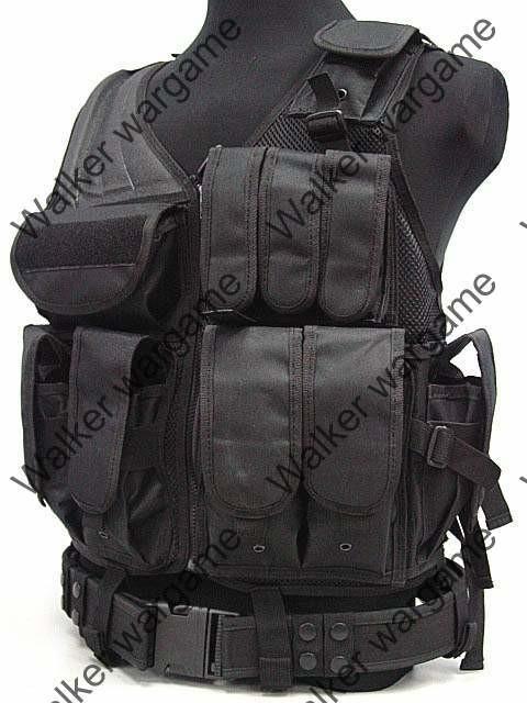 TAC Tactical vest With Belt - Black
