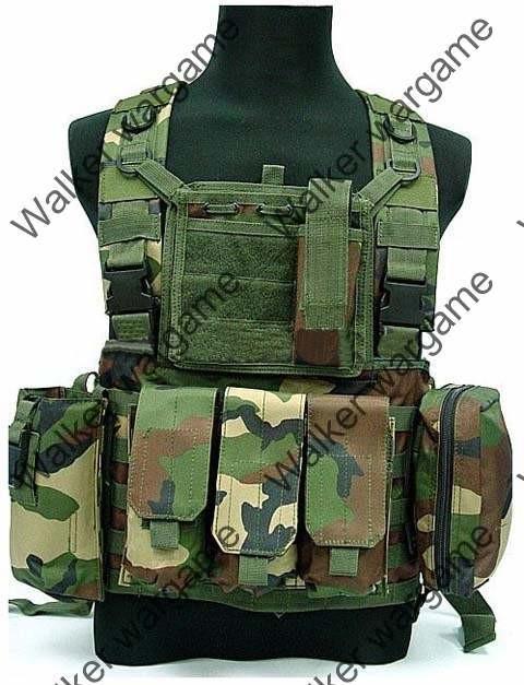 LBV Load Bearing Molle Assault Vest - Woodland Camo