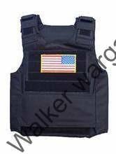 Delta Force Tactical Vest - Black (Free US Flag)