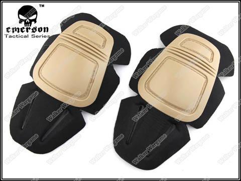 Emerson Gen 3 Tactical Combat Build In Pants Knee Pads Set - Tan