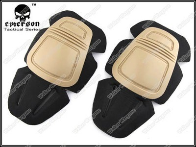 Emerson Gen 3 Tactical Combat Build In Pants Knee Pads Set - Tan